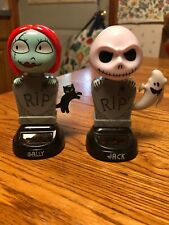 Solar Powered Dancing Toy Bobblehead New 2020 Halloween JACK & SALLY - Set Of 2