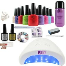 CCO UV Nail Gel Polish Varnish Starter Kit Set 48W LED Lamp  FREE NEXT DAY P&P