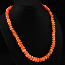 Best Quality Rare 376.78 Cts Natural Orange Carnelian Unheated Beads Necklace