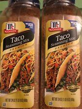 Lot of 2 McCormick Taco Seasoning Premium Mix 24 oz