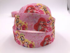 DIY 1 Yard 1'' Printed Grosgrain Ribbon Hair Bow Sewing Ribbon Cartoon princess