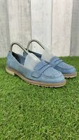 CLARKS SOMERSET Ladies Blue Suede Leather Slip On Flat Shoes Size UK 5.5