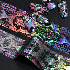 16Pcs Snake Design Nail Foils Holographic Starry Sky Foil Transfer Nail Stickers