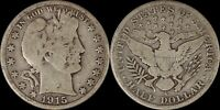 1915-S Barber Half Dollar Better Date Old Silver Coin San Francisco US Type