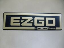 EZ-GO Golf Cart NAME PLATE FRONT EMBLEM in SILVER #BP0018
