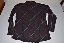 BEN SHERMAN BROWN BLUE STRIPED DRESS SHIRT MENS SIZE 2XL XXL