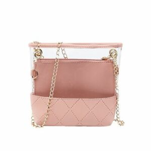Transparent Jelly Bag For Women Clear Mini PVC Leather Crossbody Messenger Solid