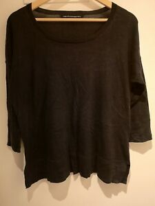 French Connection Size S (10-12) Black Top Fine Knit