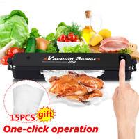 Vacuum Food Sealer Machine Storage Fresh Packaging Kitchen Heat Saver Seal Bag a