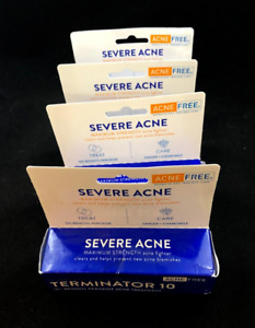 x4 AcneFree Terminator 10 Severe Acne Treatment 1oz EXP 9/2021+ (PACK OF 4)