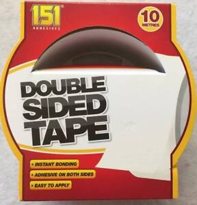 6x Double Sided Tape Strong & Reliable Easy to Apply  10m INSTANT BONDING