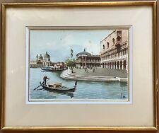 Tableaux peinture Aquarelle Par L'artiste SARI Paysage Venise Italie Encadré
