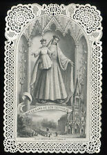 ANTIQUE LACE HOLY CARD OF OUR LADY OF BONSECOURS