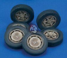 Royal Model 1/35 Autoblinda 41 (AB 41) Libia (Libya) Wheels WWII (6 pieces) 484