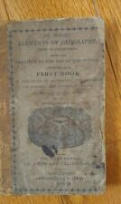 RARE Elements of Geography Jedidiah  Morse 1825 THE SIXTH EDITION