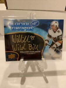 2018-19 UD Ice Glacial Graphs On Card Auto William Karlsson 39/50