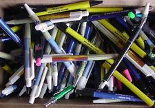 Misprint Pens  Nice writing! Clip On THIN  Retractable BULK C LOT of 100