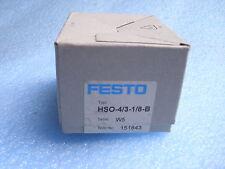 Festo  Handhebelventil  HSO-4/3-1/8 B  151843