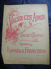 Partition Valser c'est aimer Franchino Grand Format Music Sheet