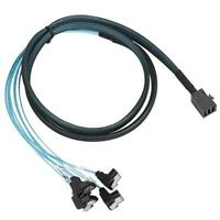 1M SFF-8643 to SATA 1*Flexible Cable Mini SAS Line HD 36P 7Pinx4 for Computer