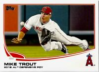 2013 Topps MIKE TROUT #536 2012 AL DEFENSIVE ROOKIE ROY Los Angeles Angels HOT!