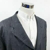 Pronto Uomo Mens 56R Sport Coat Silk Wool Blue Gold Windowpane Three Button