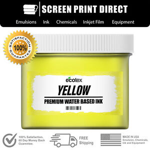 Ecotex® Yellow - Premium Water Based Ink for Screen Printing - 5 Gallon