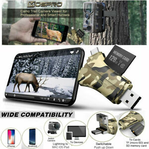 4in1 Trail Camera Viewer Micro SD/TF Memory Card Reader For iPhone Android