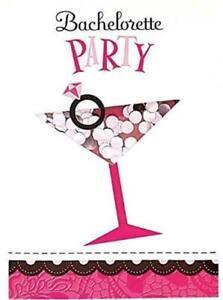 Hens Night Shaker Bachelorette Party Invitations 8 Piece Pink/Silver Girls Night