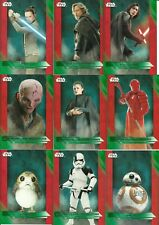 2017 Topps Star Wars The Last Jedi Green Parallel Set 100 Cards