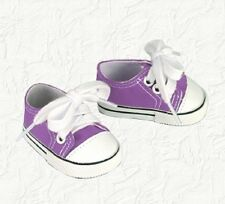 Doll Clothes Canvas Sneakers Purple Fit the 18 inch  American Girl