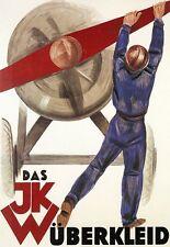 Art Poster JKW Airplane  German Deco  Print