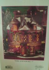 "Dept 56 Main Street Memories ""Fire Station No 1 - State Farm Insurance Profiles"