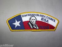 VINTAGE BSA BOY SCOUT PATCH SAM HOUSTON  AREA COUNCIL BSA TEXAS