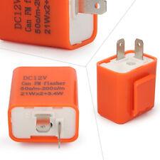 LED Flasher Relay Bulbs Light Adjustable 12V 2-Pin Turn Signal Hazard LF2-ADJ