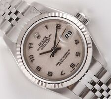 Rolex Lady Datejust Stainless Steel 26mm-18k Fluted Bezel-Ivory Jubilee Dial-BOX