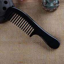 High Quatity Natural Black Buffalo Horn Comb Wide Toothed Hair Comb Anti-static