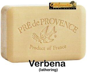 Pre de Provence VERBENA 250 Gram French Soap Bath Shower Bar Shea Butter Natural