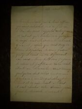 Madame Barbié du Bocage écrit à une amie - Intéressante lettre de famille -