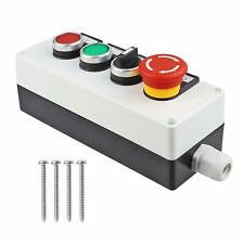 Red Mushroom Emergency Stop Latching Push Button Switch 3 Positions 2no Box
