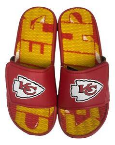 Kansas City Chiefs Men's Gel Shower Sport Slide Flip Flop Sandals