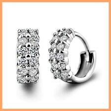 Wunderschöner Silber Silver Creolen Ohrring aus 925 Sterlingsilber mit Zirkonia