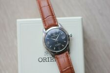 Rare Orient Star Automatic Watch with leather strap see through back case!