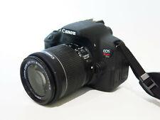 Canon EOS Rebel T5i 700D 18.0 MP DSLR w/ EFS 18-55mm STM Lens - only 524 Clicks