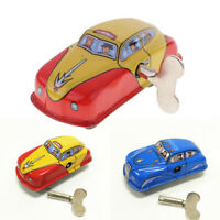 Vintage Taxi Car Model Wind-up Clockwork Tin Toy Collectibles Gift