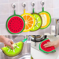 NEW Fruit Printed Kitchen Hand Towel Microfiber Towel Cleaning Rag Dish Cloth