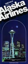 Alaska Airlines Timetable  January 15, 1983 =