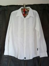 Men's shirt XXL White patterned front  exe con