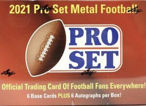 2021 LEAF PRO SET METAL FOOTBALL HOBBY BOX SEALED 6 AUTOS PER BOX! FREE SHIP!
