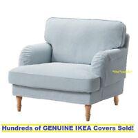 "IKEA STOCKSUND Sofa Cover 3 seat  78 3//8"" sofa Remvallen Blue White Brand New"